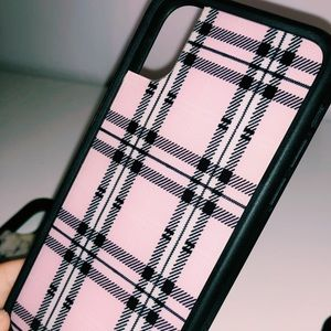 Pink plaid wildflower case - IPHONE X